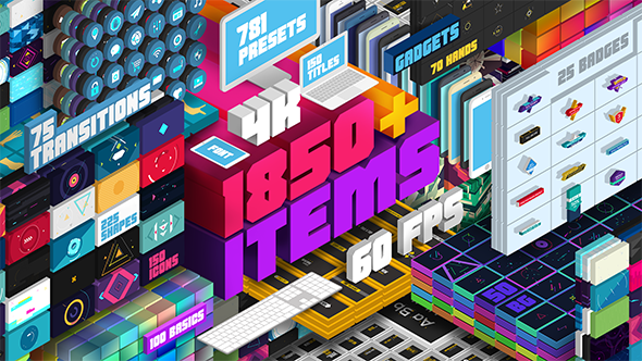 دانلود اسکریپت Big Pack Elements 2019 شامل آیکون و ابزار موشن گرافیک افتر افکت - Big Pack Elements 2019 For After Effect