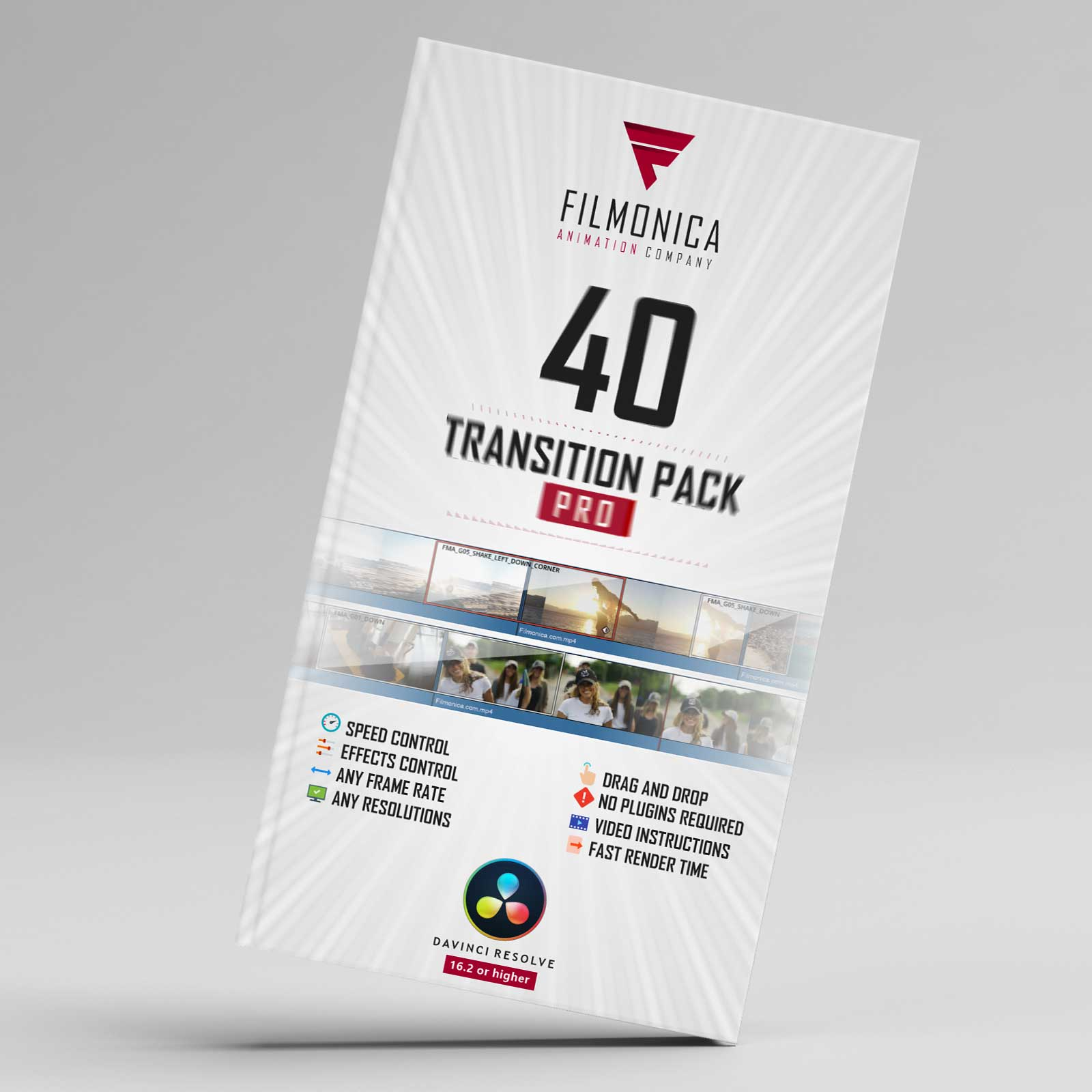 دانلود 40 ترنزیشن داوینچی ریزالو 40+ Transitions Pack for DaVinci Resolve!