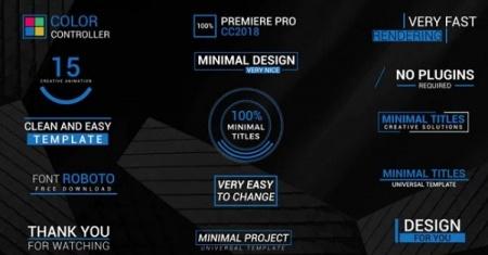 دانلود پروژه پریمیر تایتل 15 Minimal Titles