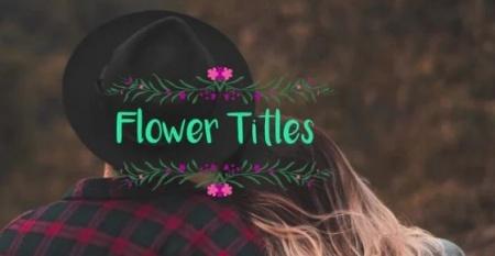 دانلود پروژه پریمیر متن گل دار Flower Titles