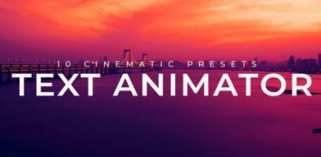 دانلود پریست پریمیر Text Animator Cinematic