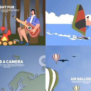 پروژه افترافکت موشن گرافیک گردشگری Travel & Holiday Promotion Kit