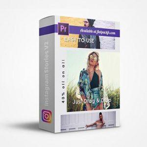 پروژه پریمیر مجموعه استوری اینستاگرام Instagram Stories v2