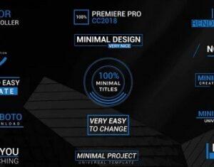 دانلود پروژه پریمیر تایتل ۱۵ Minimal Titles